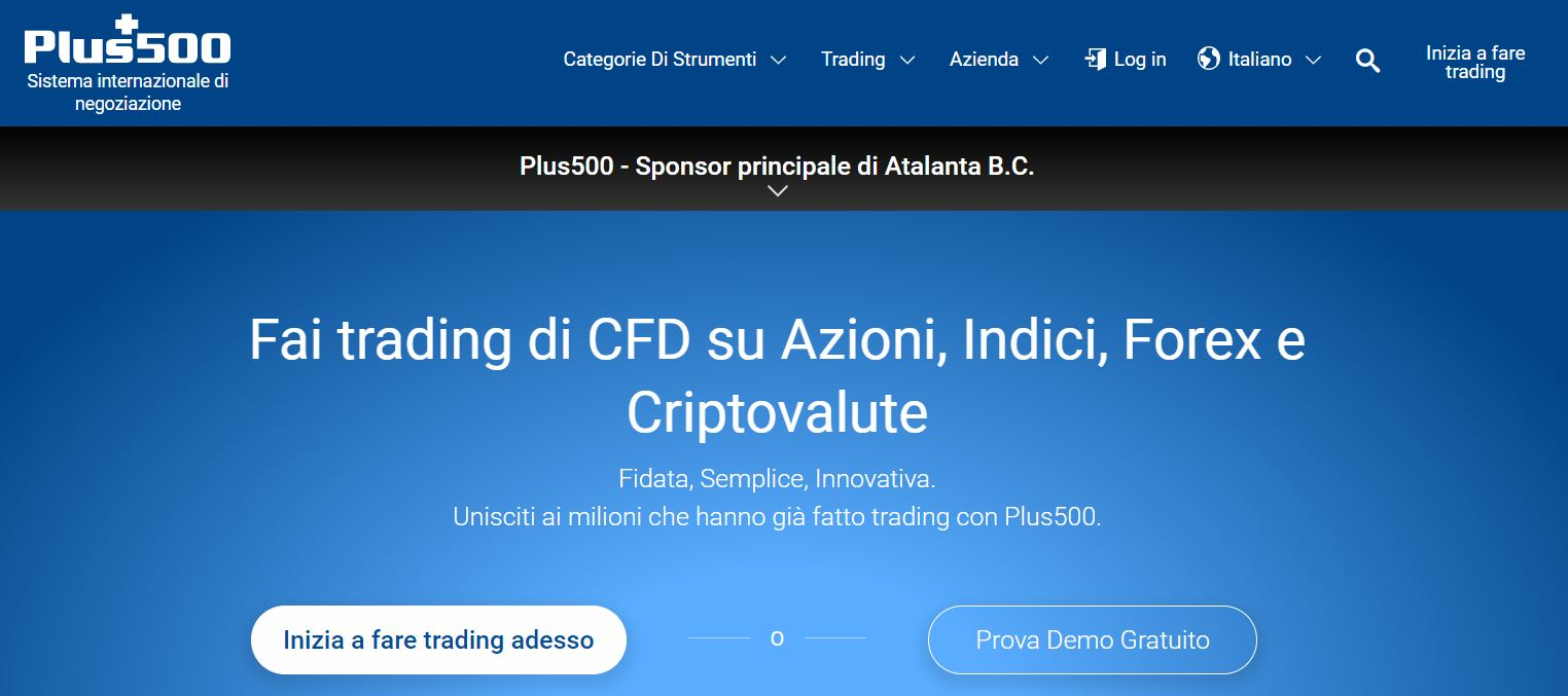 conto demo trading online plus500