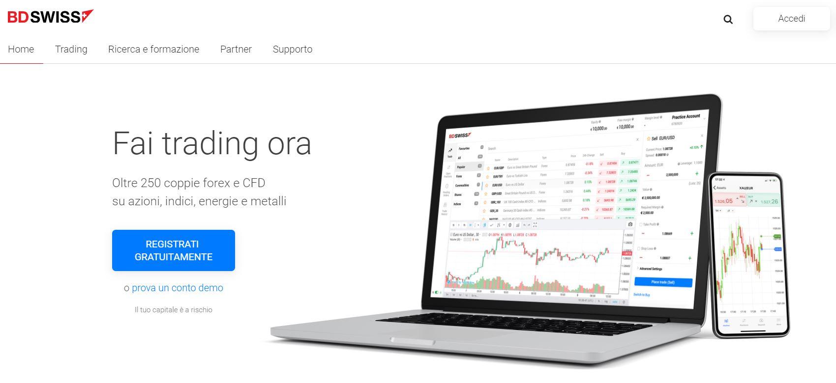 demo trading online bdswiss