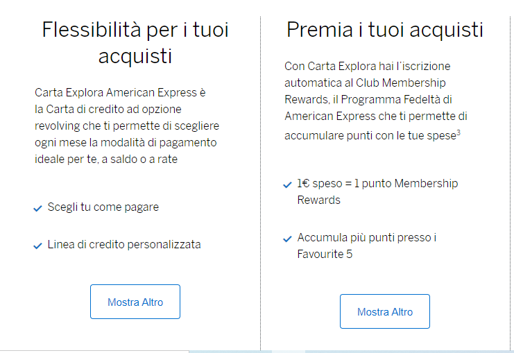 american express benefici