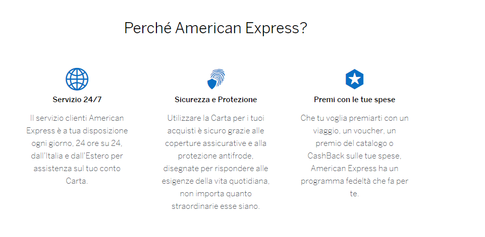 carta credito american express