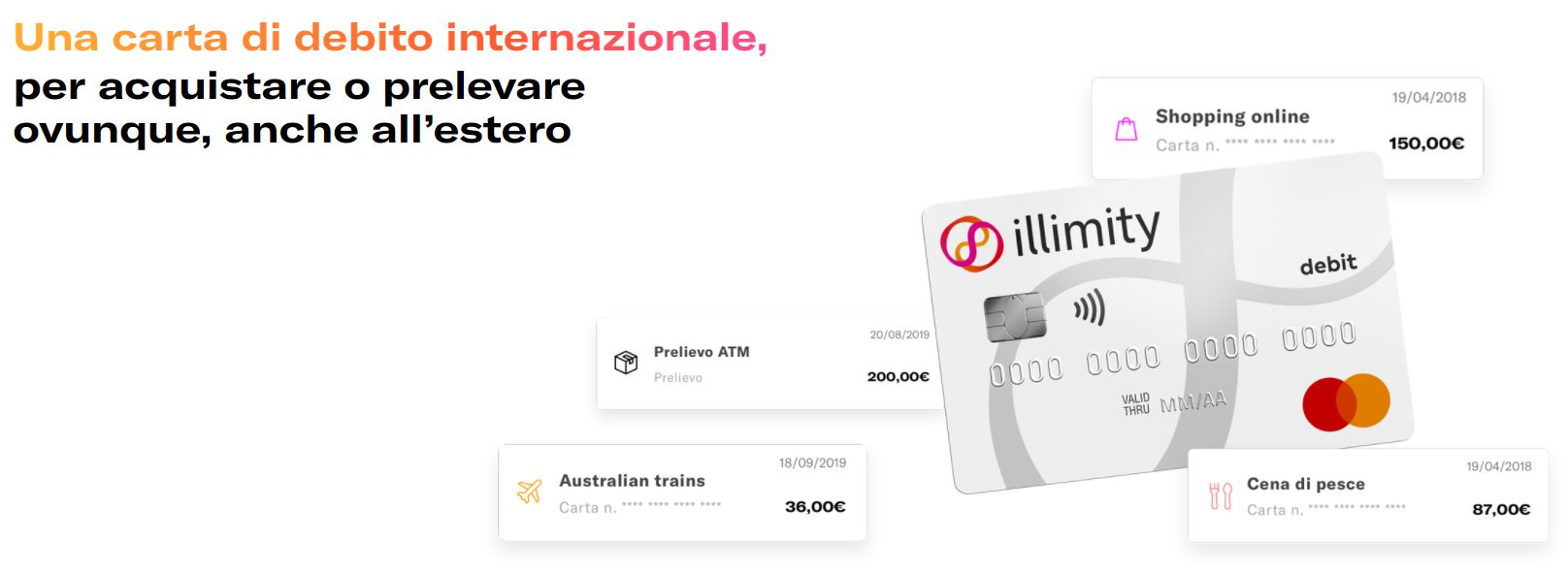 carta di debito mastercard illimity bank