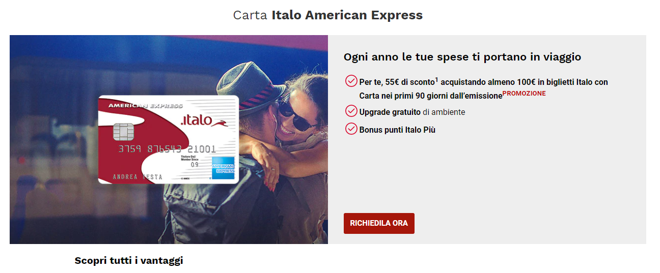 carta italo american express
