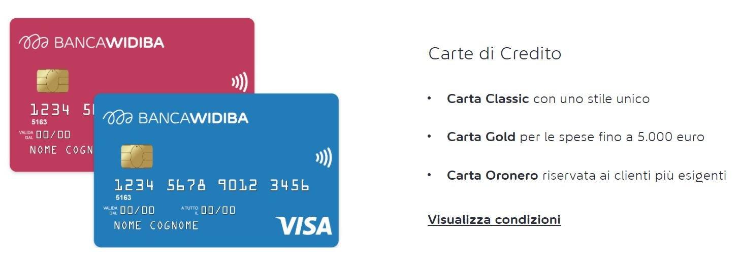 carte di credito banca widiba
