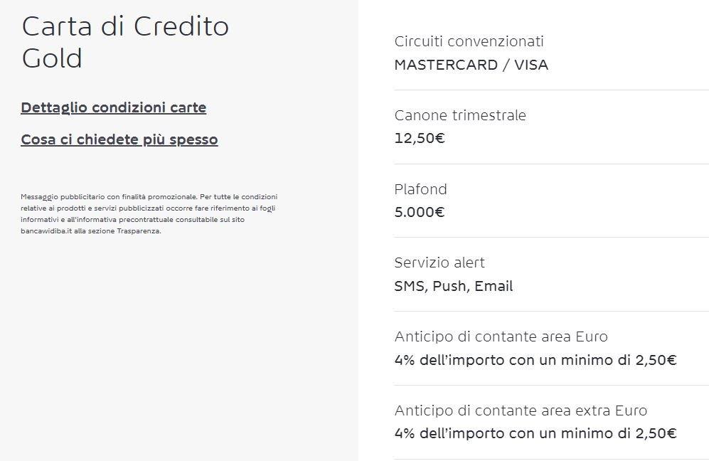 carte di credito italiane come funzionano