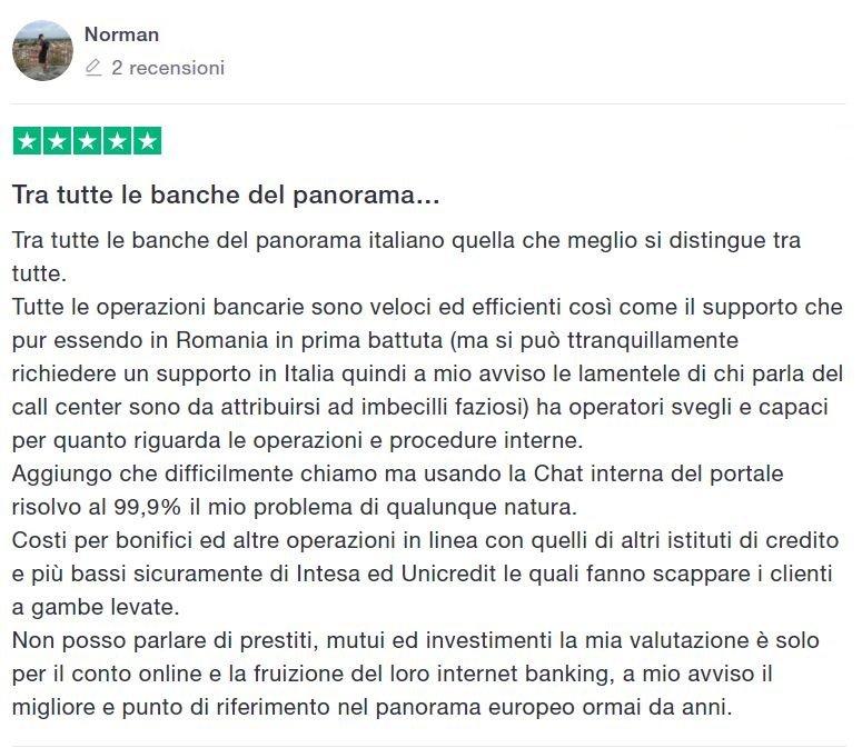 recensioni conto banca sella online