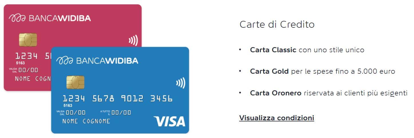 richiedere carta di credito senza busta paga