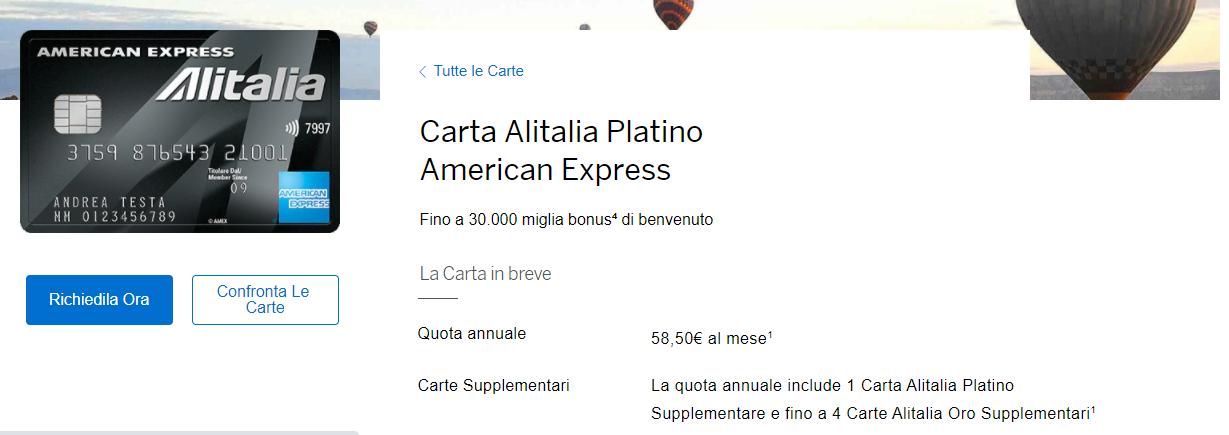 american express alitalia platino