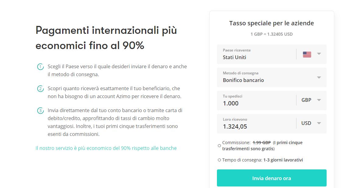azimo pagamenti internazionali