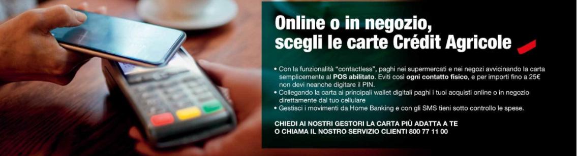 carta-crédit-agricole-pagamento-contactless