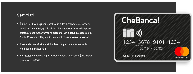 carta di credito senza busta paga online