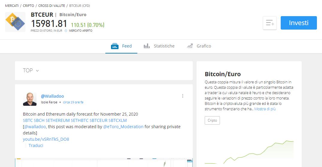come si cambiano in bitcoin gli euro
