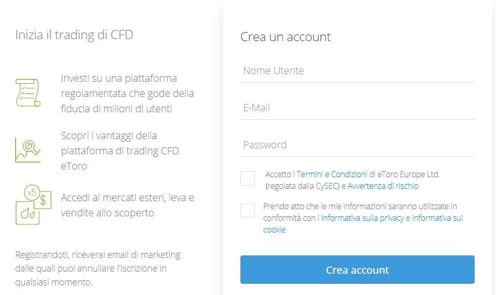 creazione account etoro cfd