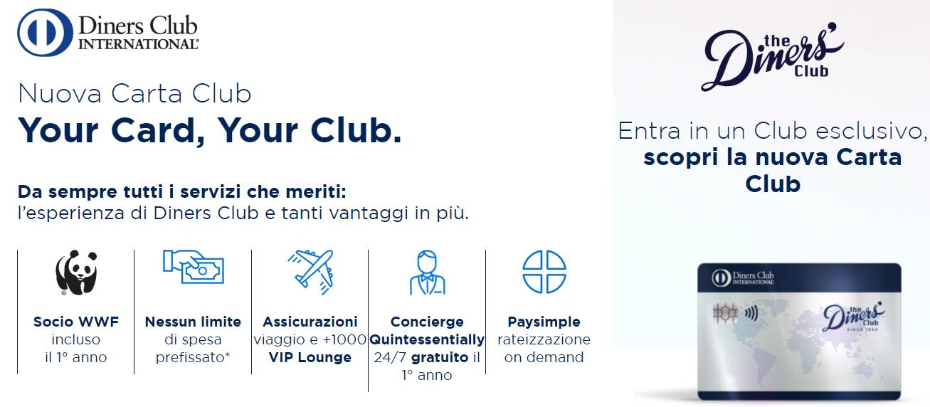 diners club nuova carta club