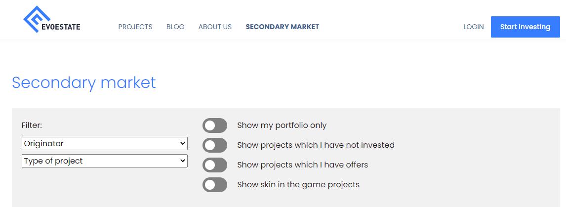 evoestate secondary market