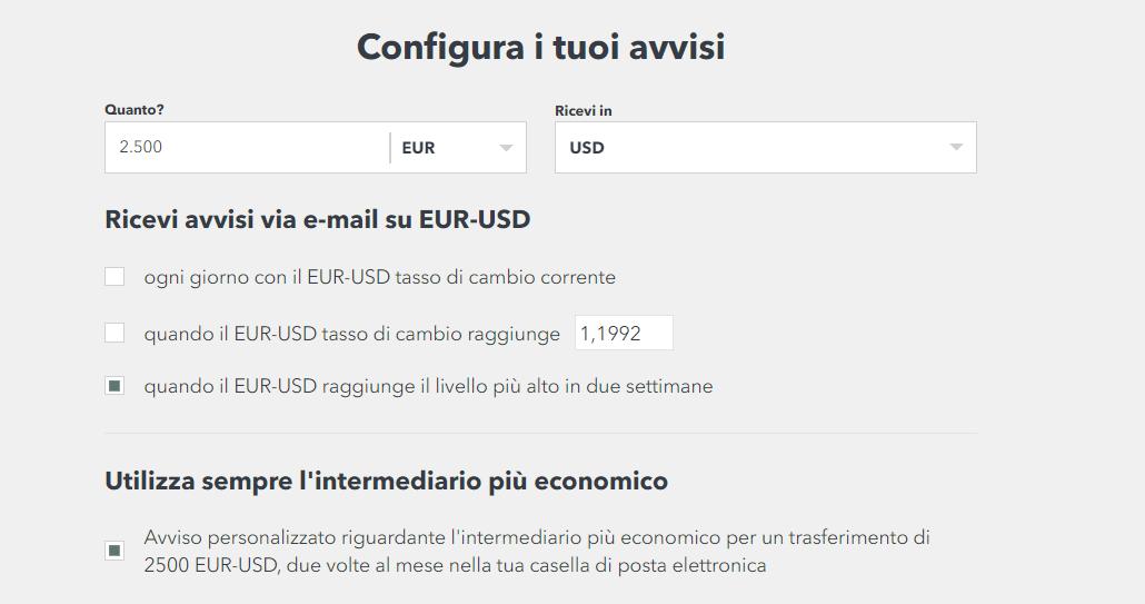 monito tasso di cambio