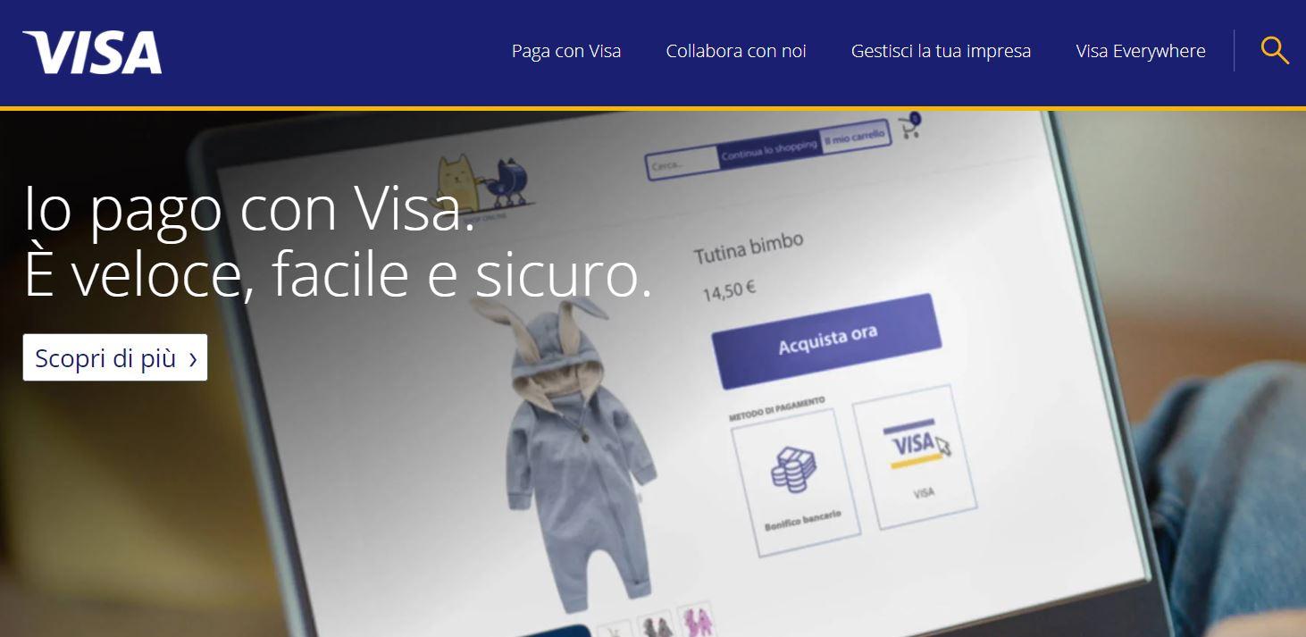 carta di credito circuito visa