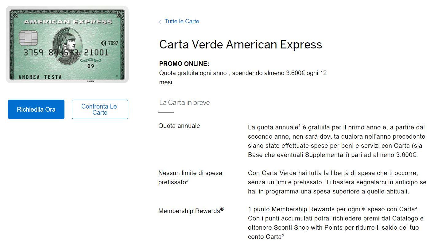 circucarta di credito american express
