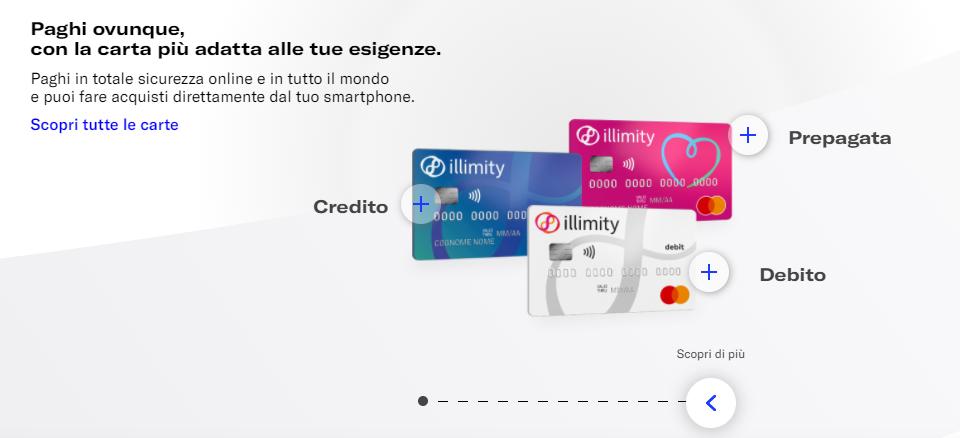 conto deposito illimity bank carta di credito