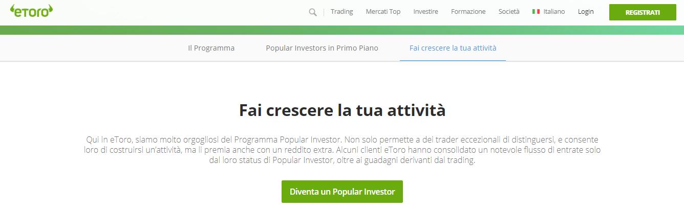 etoro popular investor come funziona