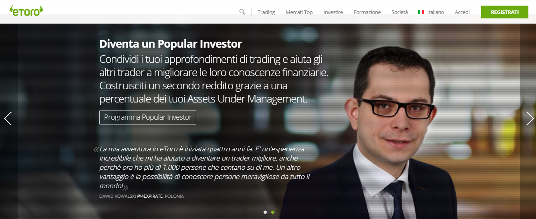 etoro popular investor registrarsi