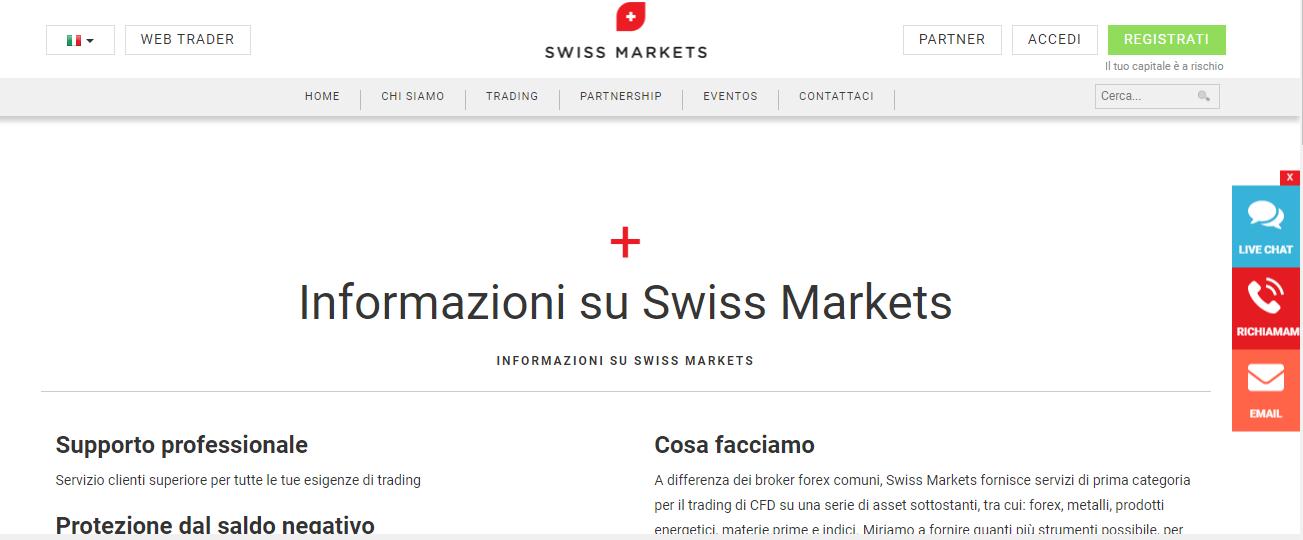 swiss markets recensione