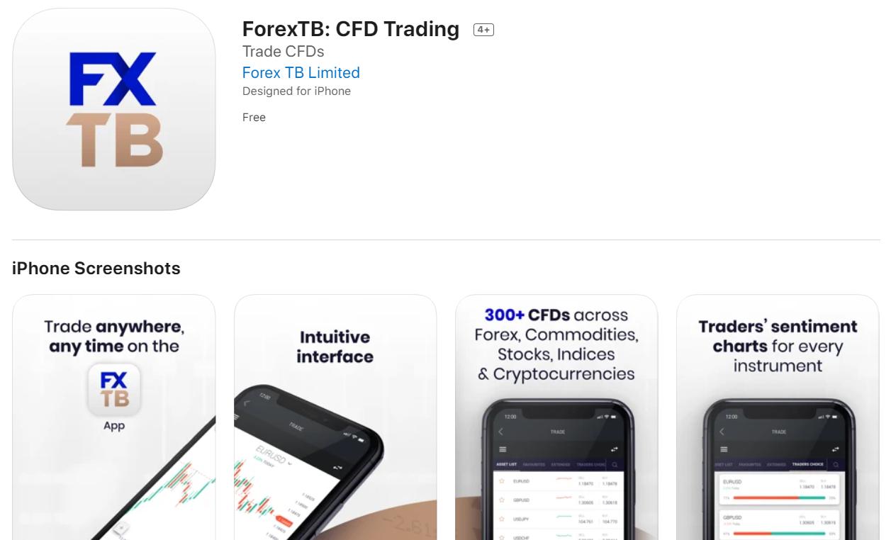 forextb app trading