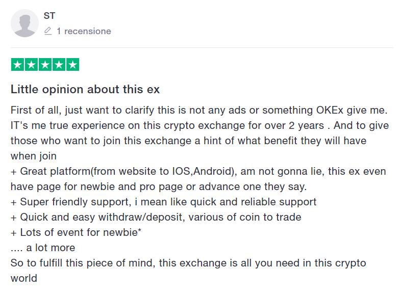 opinioni okex