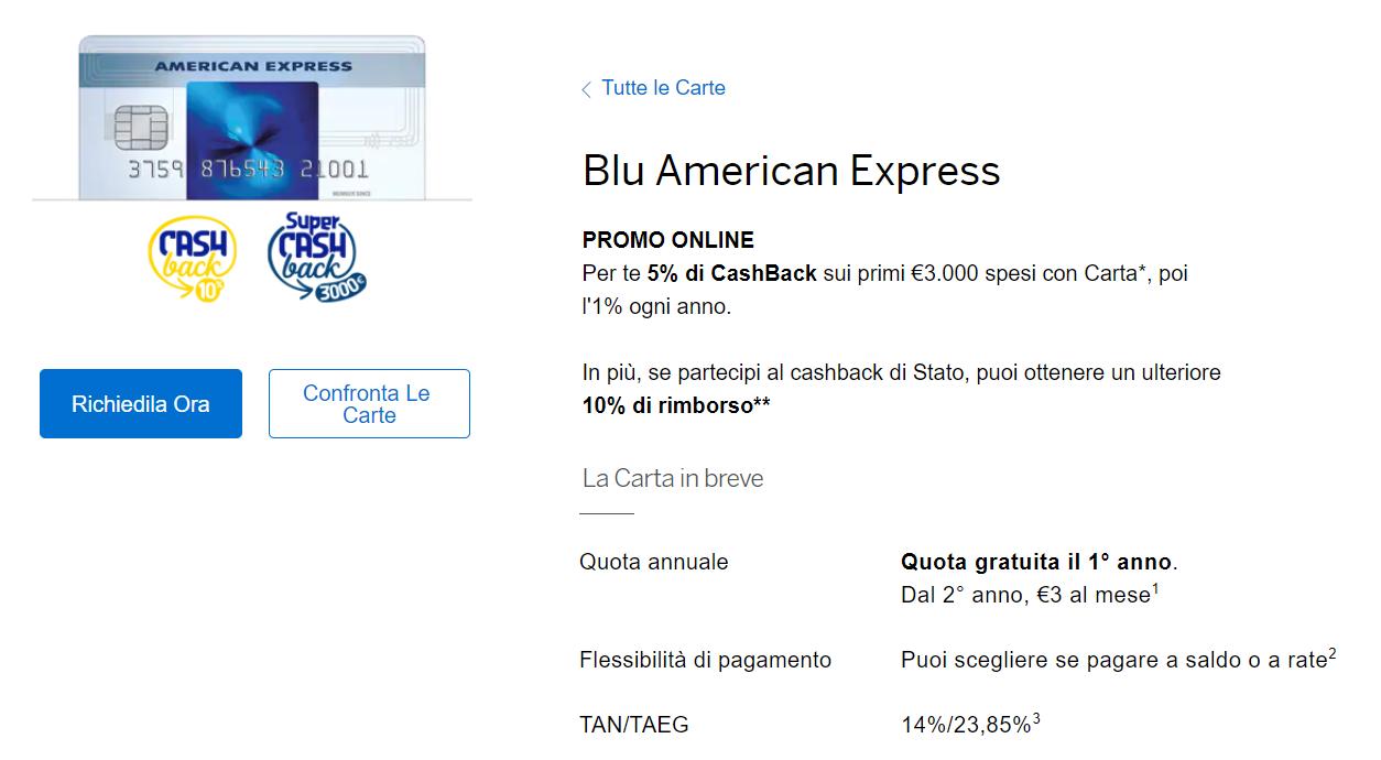 carta di credito a rate american express