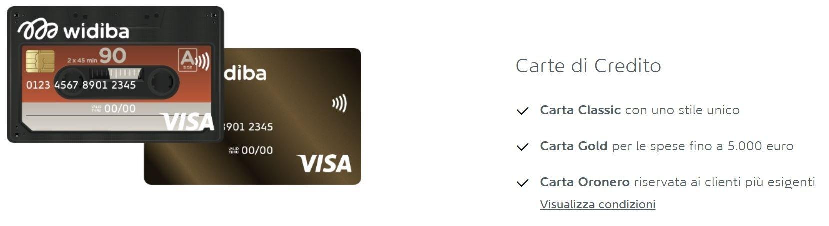 carta di credito visa richiesta online
