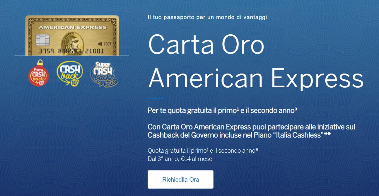 richiesta american express