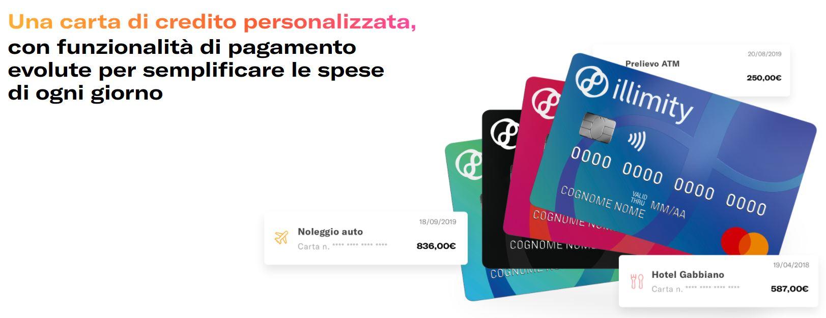 richiesta carta di credito illimity bank