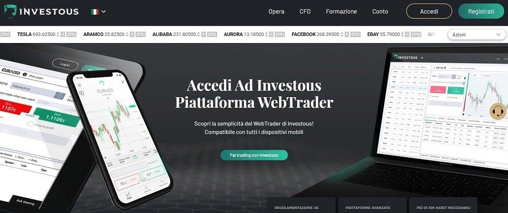 piattaforma di trading su azioni investous