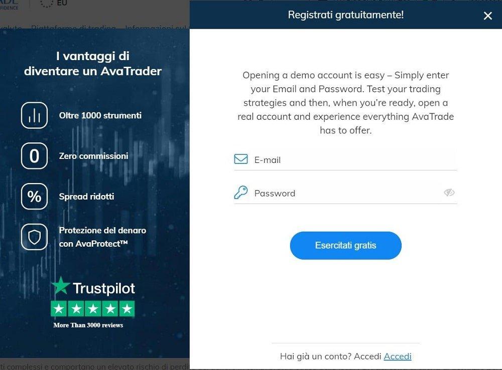 piattaforma trading online demo