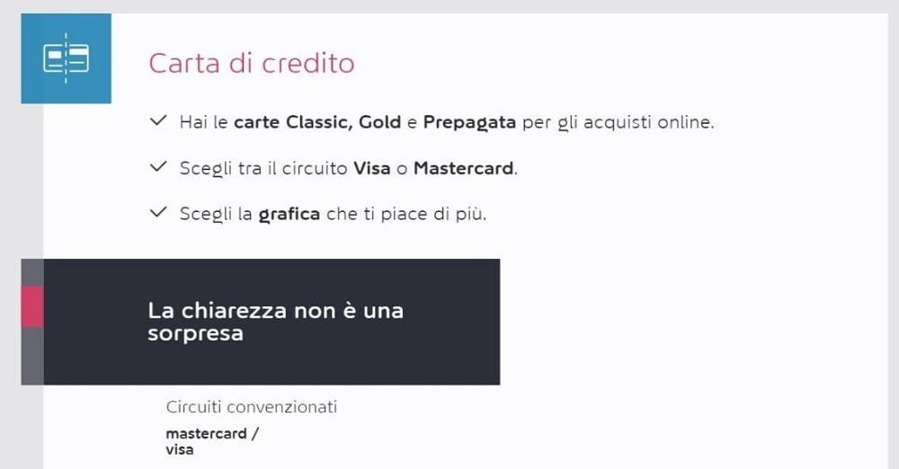 fare bonifico con carta di credito online