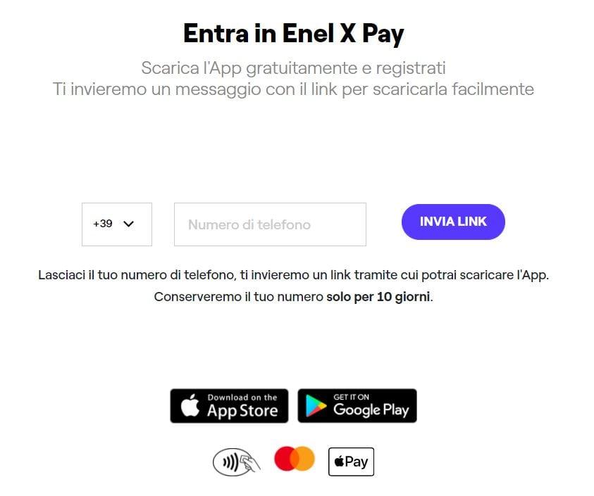 tutorial registrazione enel x pay